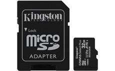 32GB microSDHC Kingston Canvas Select Plus A1 CL10 100MB/s + adapter