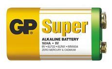 Alkalická baterie GP Super 6LF22 (9V, plochá)