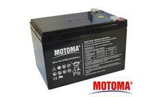 Baterie olověná 12V / 12Ah MOTOMA bezúdržbový akumulátor Trakční