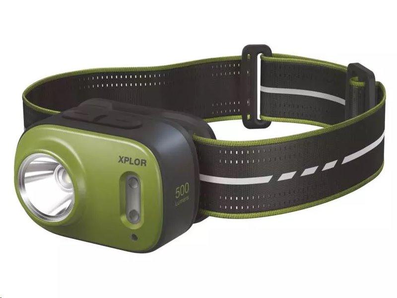 Čelovka GP Xplor PHR17, 500 lm, 3× Cree SMD LED, USB-C nabíjení