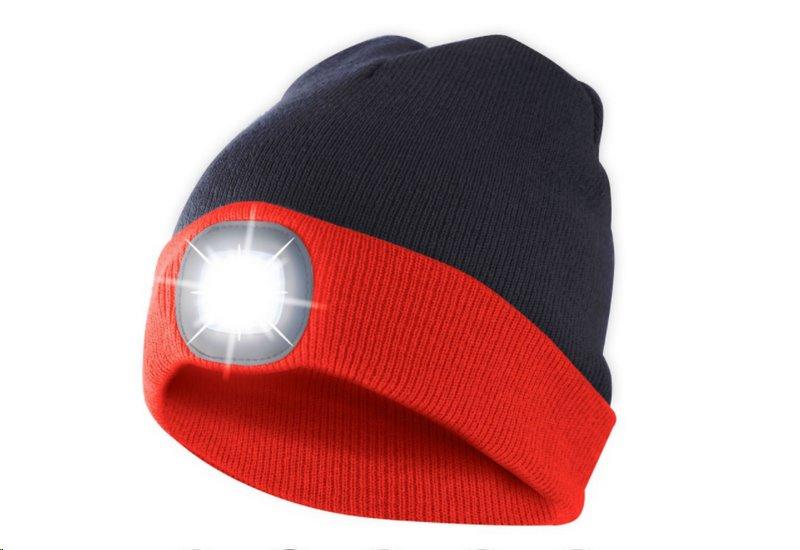 Čepice s čelovkou, univerzální velikost, červeno černá, VELAMP CAP15