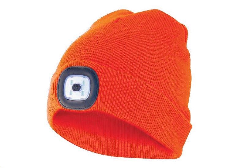 Čepice s čelovkou, univerzální velikost, oranžová, VELAMP CAP10