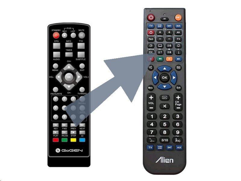 Dálkový ovladač ALIEN GoGEN DVB 132 T2 PVR