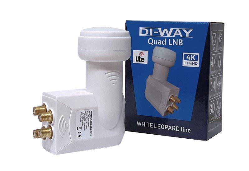 DI-WAY LNB QUAD 0,1dB WHITE LEOPARD LINE