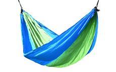 Houpací síť NYLON 275x137cm zeleno-modrá