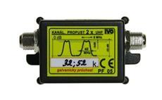 IVO PF05 UHF Kanálová propust 2xUHF 32. a 52. kanál