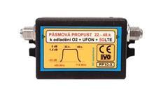 IVO PP10-X pásmová propust 22.- 48. kanál, odladění O2 + UFON + 5G LTE
