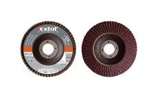 Kotouč lamelový šikmý korundový, P100, 125mm, KORUND EXTOL-PREMIUM