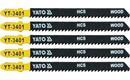 List pilový do přímočaré pily 100 mm na dřevo TPI10 5 ks YT-3401