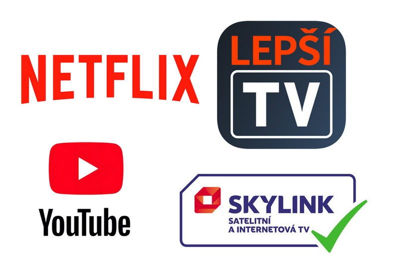 Netflix, Skylink Live Tv, Lepší.TV, Youtube