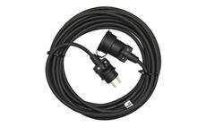 Prodlužovací kabel 20m / 3x1,5mm spojka gumový černý