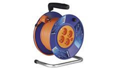 Prodlužovací kabel na bubnu 30m / 3x1mm PVC / 4 zásuvky