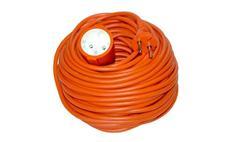 Prodlužovací kabel spojka 30m 2x 1mm, oranžový Solight PS28