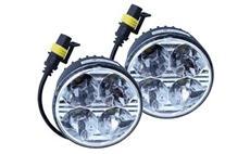 Světla denního svícení 4 HIGH POWER LED 12V/24V (kulatá 70 mm)
