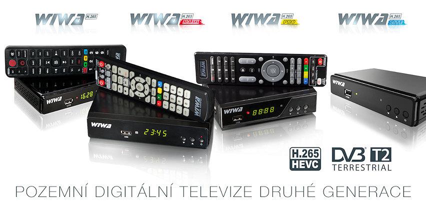 Settopboxy wiwa pro DVB-T2 H.265 pozemní digitální příjem